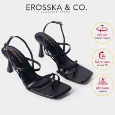 Giày cao gót Erosska thời trang phối dây gót nhọn kiểu dáng xỏ ngón cao 7cm BM004 (BA)