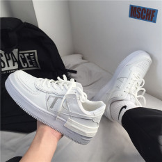 Giày Thể Thao Nam Nữ Sneaker AF1 ALL WHITE Hot Trend camstore Đế Cao