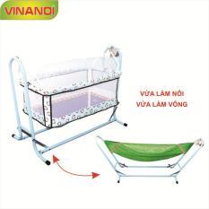 Nôi Võng tự động cho bé 2 trong 1 VINANOI – NV25 lòng nôi màu xanh
