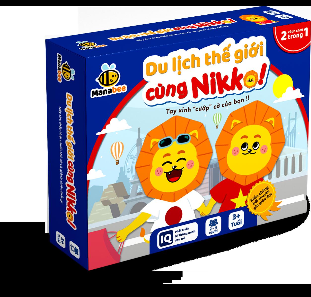 Đồ chơi trí tuệ Manabee – Du lịch thế giới cùng Nikko – Giúp bé khám phá thế giới và chinh phục môn toán – Lứa tuổi 3+