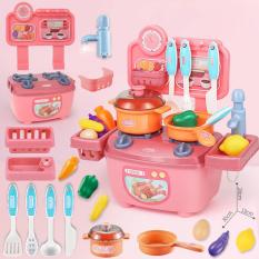 Bộ đồ chơi nấu ăn nhà bếp KAVY cho bé gái nhiều chi tiết, nhựa nguyên sinh an toàn – màu hồng