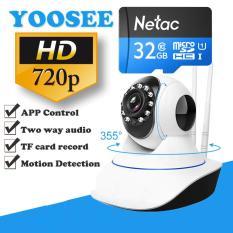 Camera IP giám sát và báo động Vinatech IPC-W3A + 1 thẻ nhớ 32GB (Trắng)