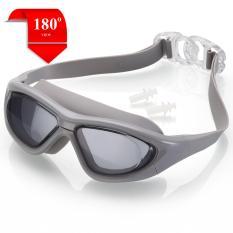 Kính bơi tầm nhìn rộng 180 độ, tráng gương, chống tia UV POPO Collection
