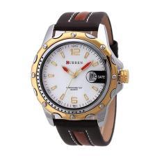 Đồng hồ nam dây da Curren 8104 (Trắng phối vàng)