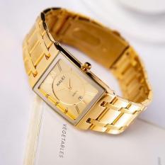 đồng hồ nam Halei mặt vuông ,dây vàng mặt vàng,chống nước,chống xước tuyệt đối