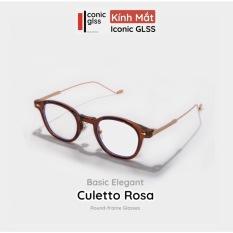 Gọng cận tròn CULETTO ROSA nam nữ cao cấp chất liệu Acetate kết hợp Titanium siêu nhẹ bền chắc lens phân cực UV400 phụ kiện thời trang hot trend 2021
