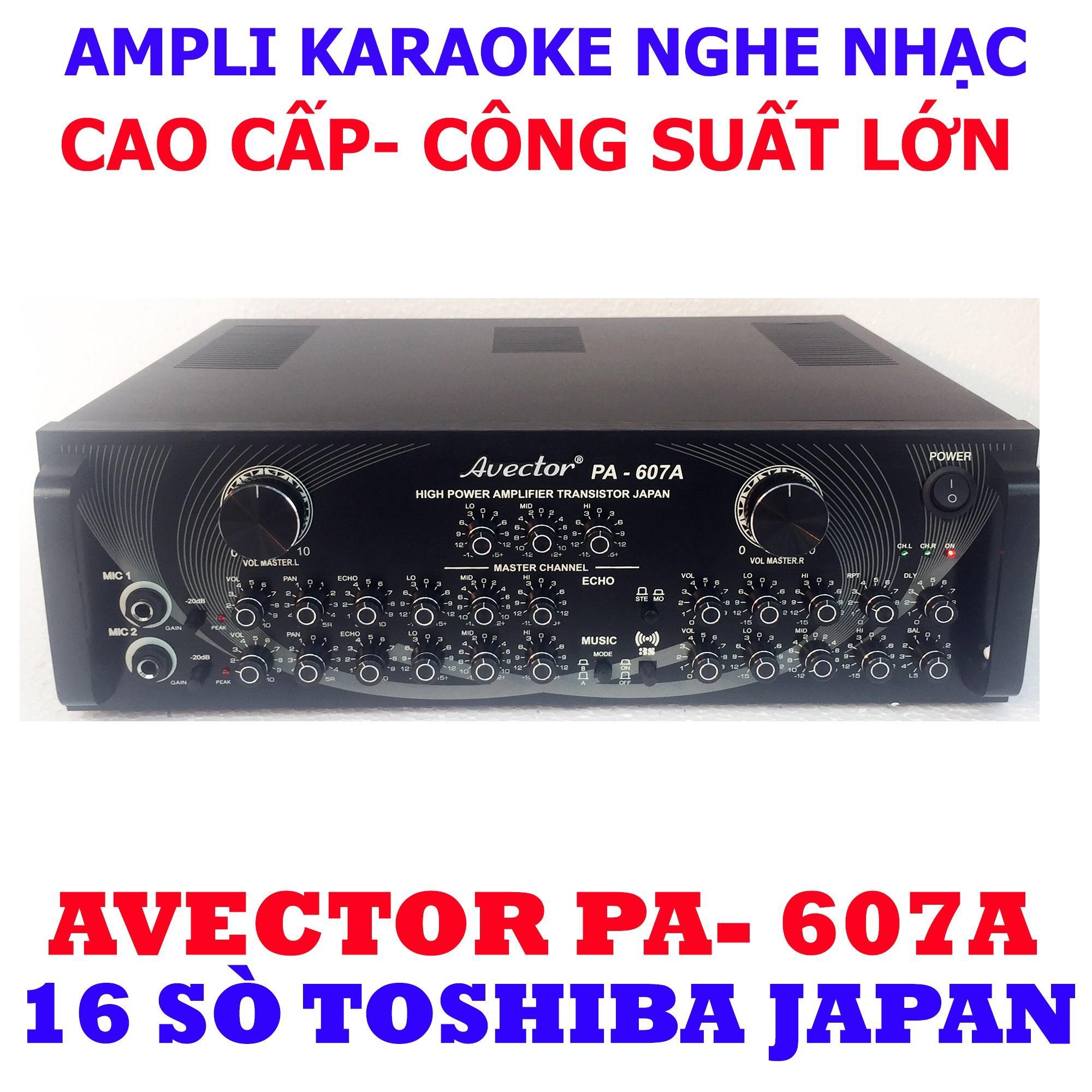 Ampli karaoke Amply nghe nhạc CAO CẤP AVECTOR 607A hát karaoke cực chuẩn