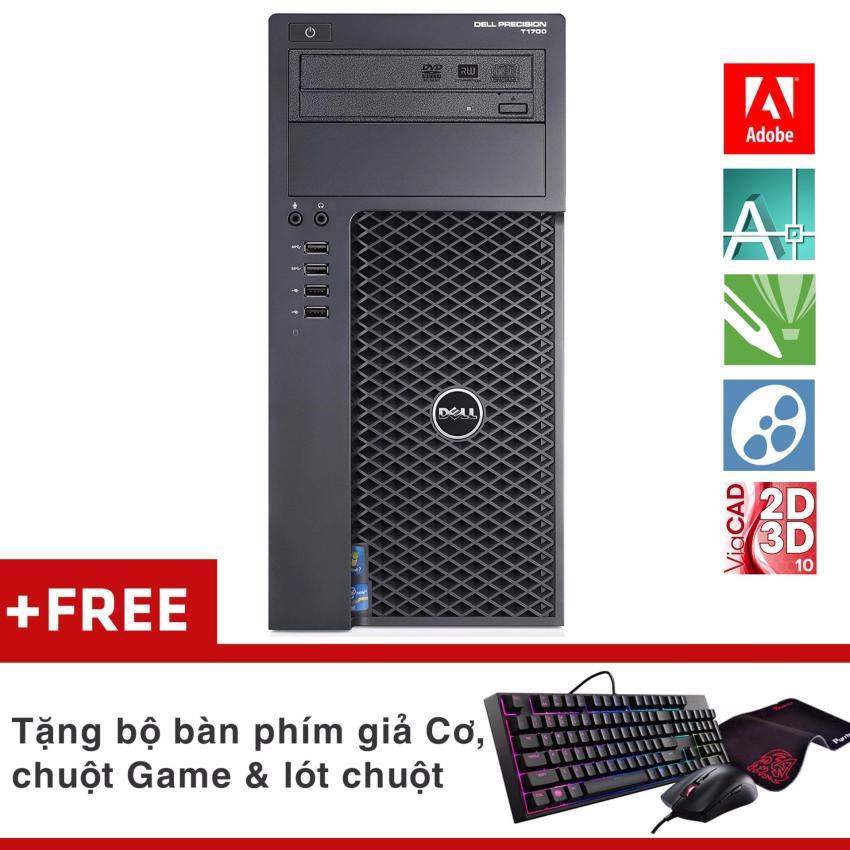 Hình ảnh 1 Máy Workstation khủngDell Precision T1700 MT (XeonE3-1240 V3, Ram ECC 32GB, SSD 480GB, HDD 3TB, VGA Quadro K2000 2GB)+ Quà Tặng - Hàng Nhập Khẩu