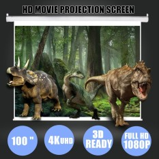 100 inch 16:9 White Portable Home Projector Screen Cinema Curtain HD TV Projection – intl