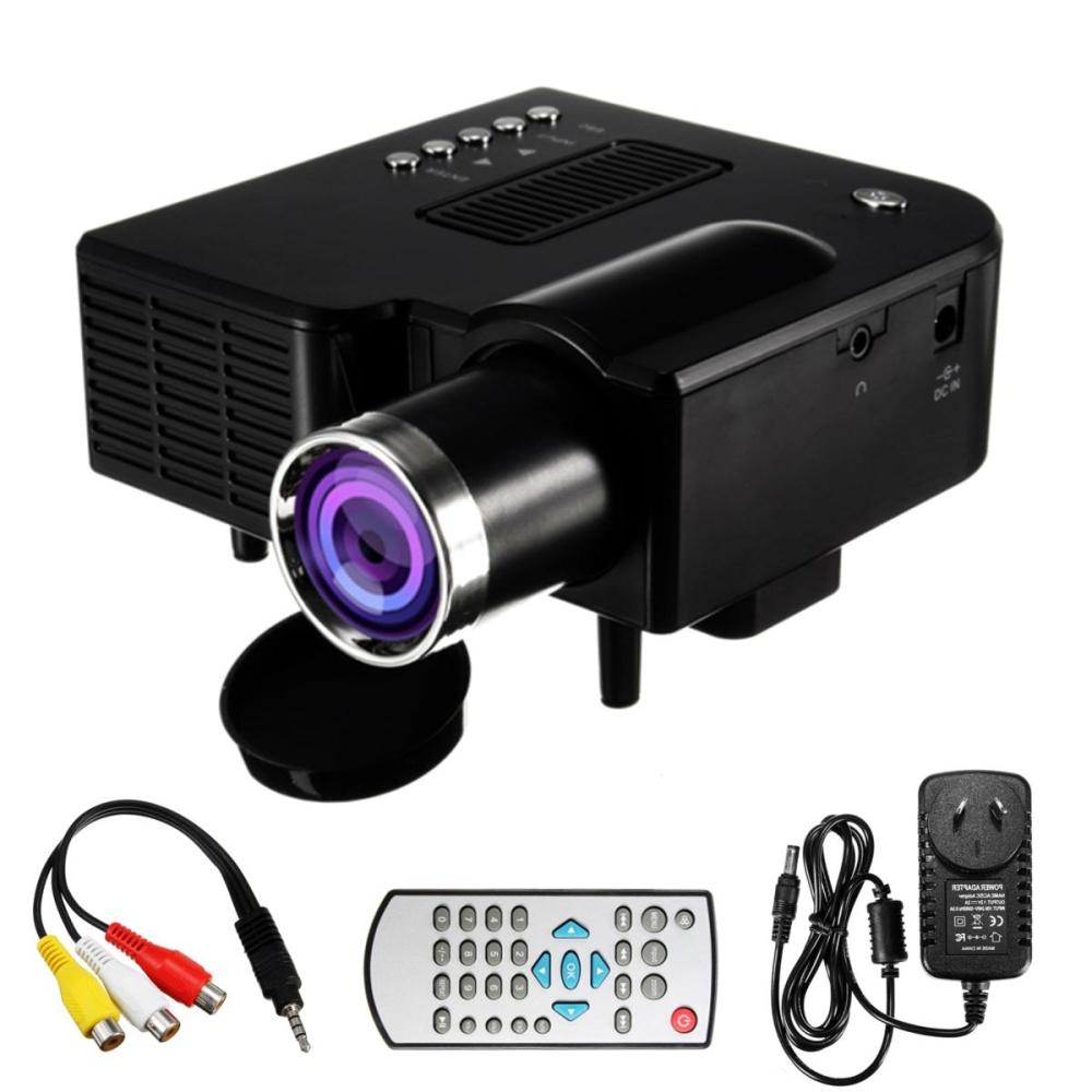 1080 p HD LED Máy Chiếu Mini Đa Phương Tiện Rạp Hát Tại Nhà Điện Ảnh AV VGA SD USB...