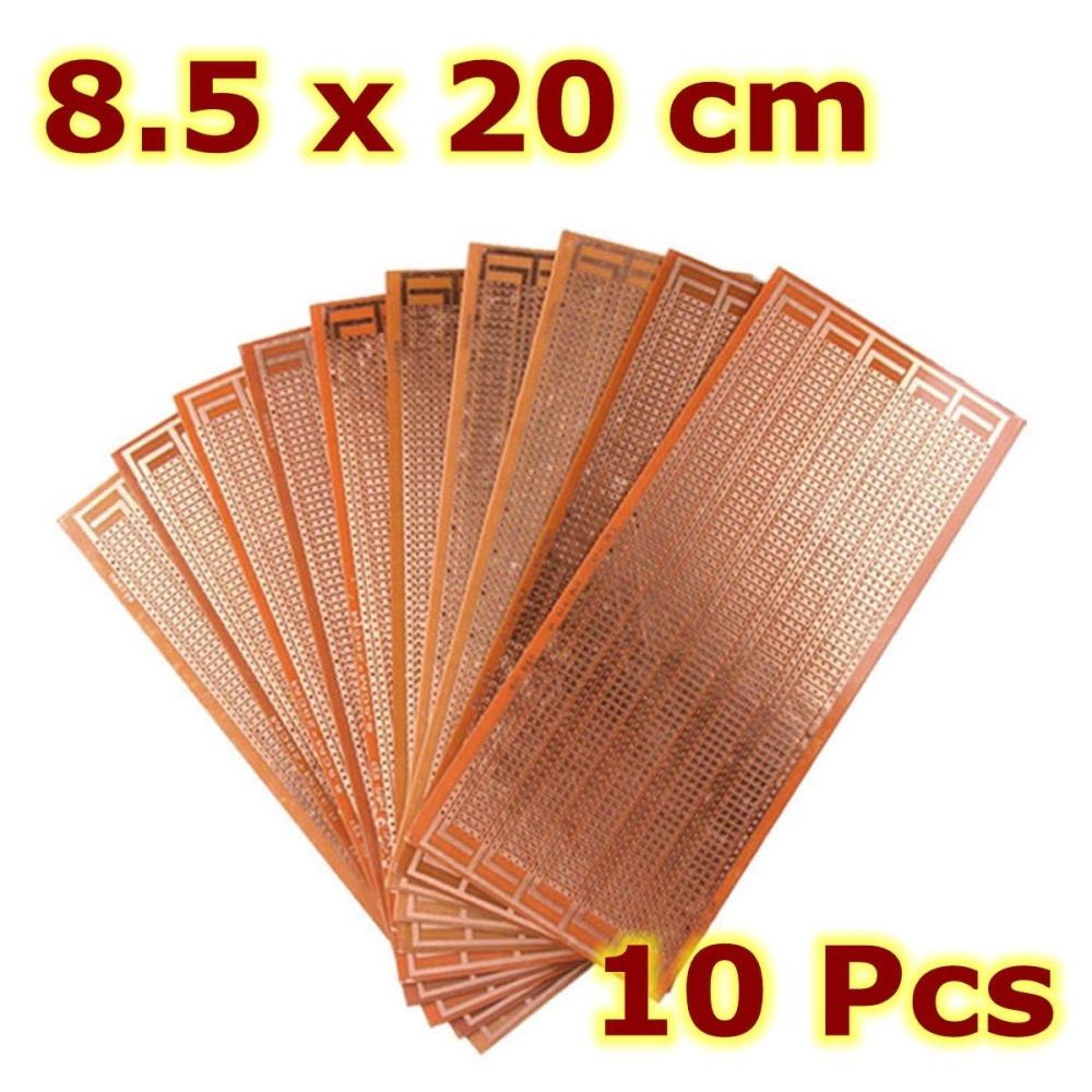 Giá 10 cái 8.5×20 cm DIY PCB Nguyên Mẫu Bảng Mạch In Ma Trận Stripboard Đa Năng-quốc tế Tại Qiaosha