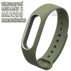 (11 màu) vòng Mijobs, dây đeo thay thế dành cho Miband 2 , mẫu có viền, có logo Mijobs