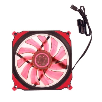 12cm 4pin+3pin PC Computer LED Cooling Brushless Fan(Red) - intl