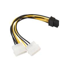 18 cm 8 (6 + 2) pin sang Dual 4 Pin Đồ Họa Video Thẻ Dây Nguồn Adapter-quốc tế