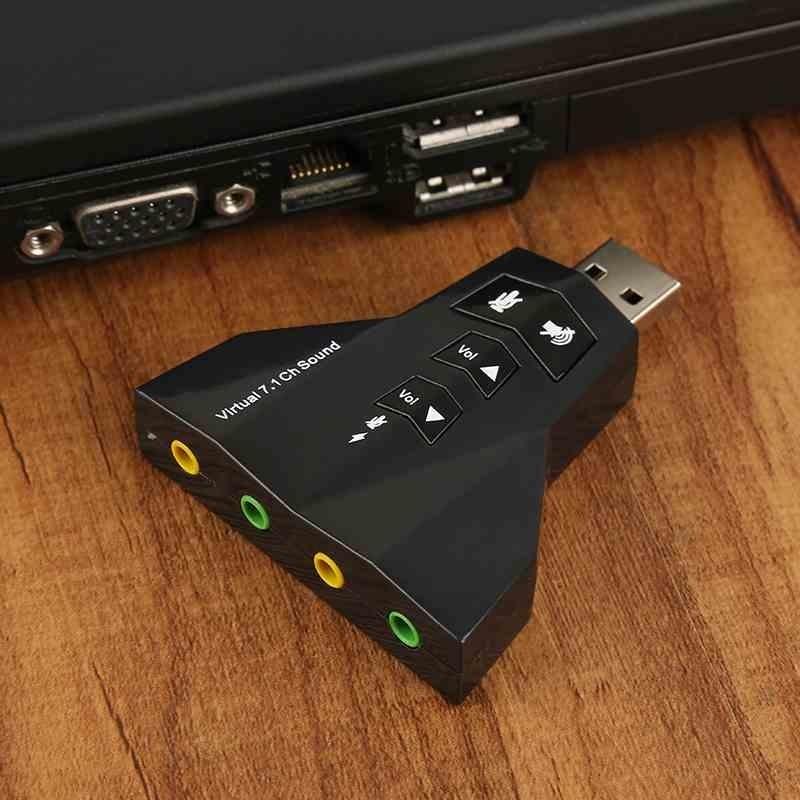 So sánh giá 1PC USB 2.0 to 3D Audio Sound Card External Adapter Mic Headphone Virtual 7.1 CH – intl Tại ZLOYI