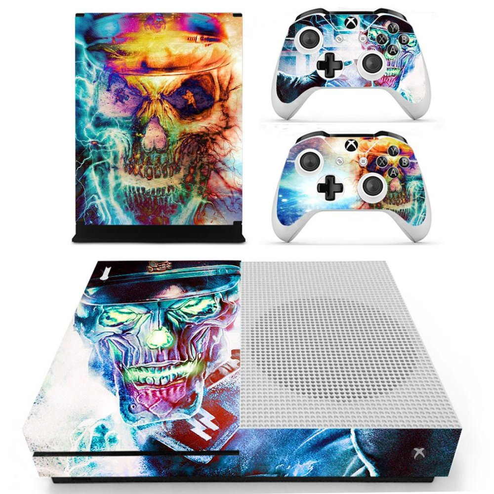 Giá Sốc 2 Controller Sticker + Skeleton Designer Skin For XBOX ONE S Gaming Console YS-xboxoneS-0134 – intl