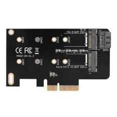 Nên mua 2 Ports NGFF M.2 B + M Key To PCI-E 4X 3.0 Adapter Card SSD To PCI Express – intl  ở Sweatbuy