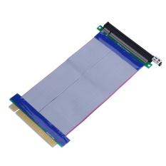 20cm / 7.87inch PCI-E Express16x to 16x Male to Female Riser Extender Card Ribbon Cable – intl