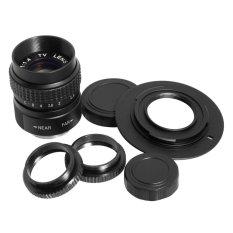 25mm f/1.4 C mount CCTV TV Lens + M4/3 Adapter + Macro Ring for GF3K E-PM1 LF010-SZ (Black) – intl