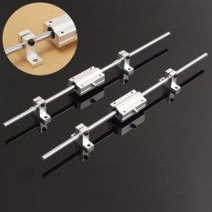 2 cái 8 mét 400 mét Tuyến Tính Trục Cần Đường Sắt Bộ W/2XSCS8LUU Chịu Lực Cho 3D máy in CNC- quốc tế