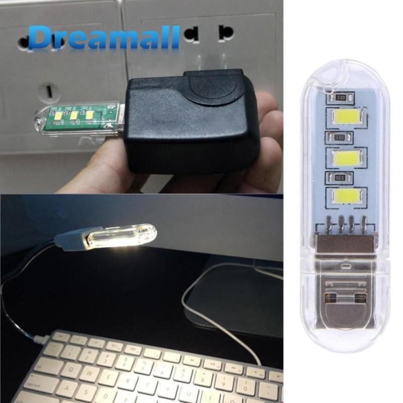 Bảng giá 2pcs Portable Mini U Disk Shape LED USB Computer Night Lamp - intl Phong Vũ