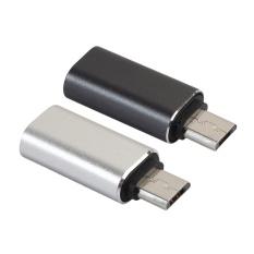 2 cái USB Loại C sang Micro USB Male Adapter- quốc tế