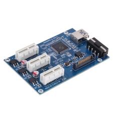 3 trong 1 PCI Express PCI E 1X khe cắm Thẻ Mạch Mở Rộng Adapter PCI-E Cổng (Xanh Dương)-quốc tế