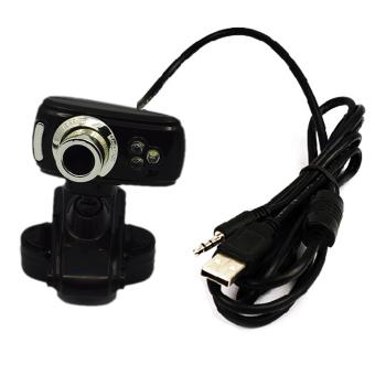3 LED High Definition Free Driver USB Webcam Laptop PC ComputerCamera Black
