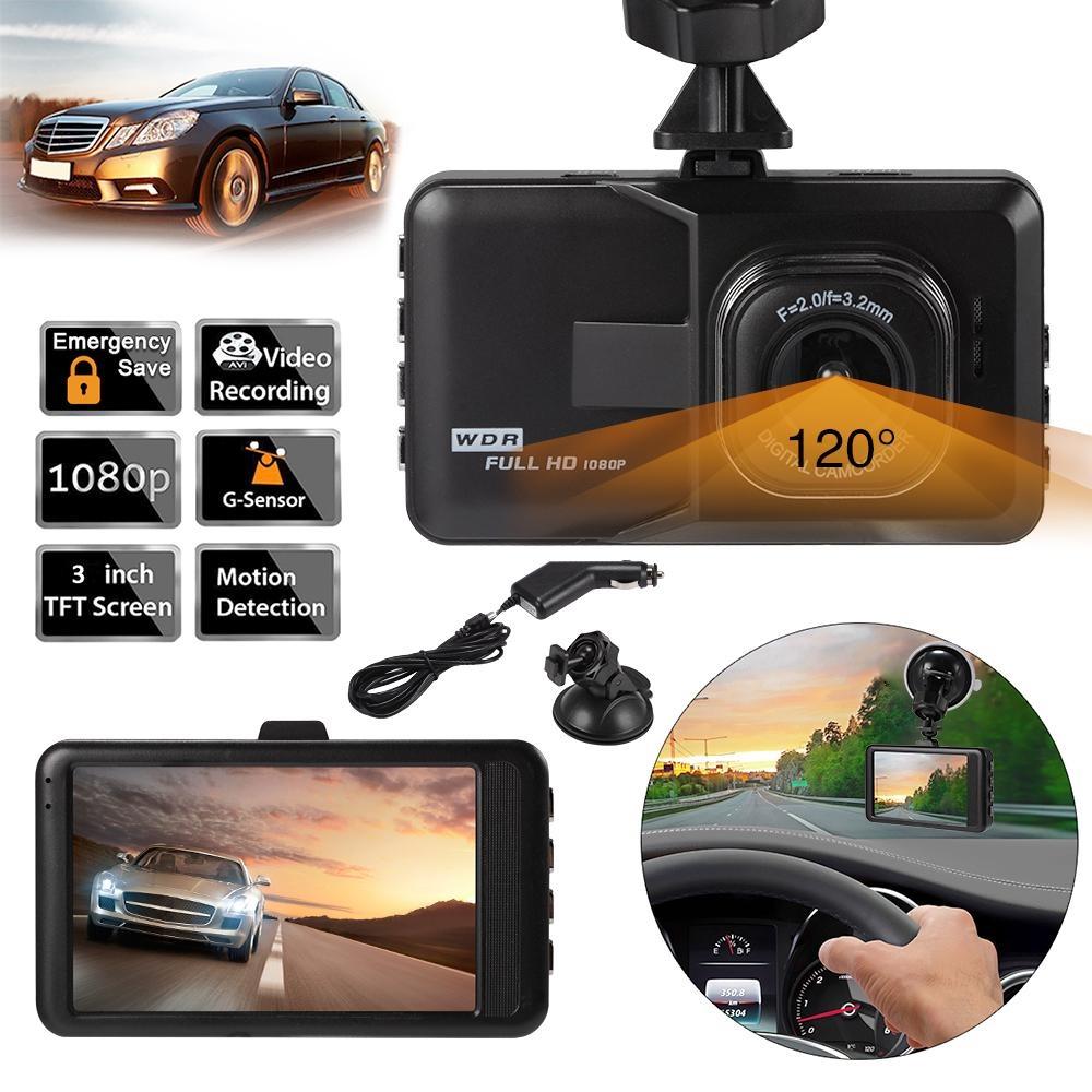 3.0″ LCD HD 1080P Car DVR Camera Dash Cam Recorder G-Sensor Night Vision – intl