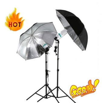 "33""/83cm Studio Flash Light Lighting Black Silver UmbrellaReflective Reflector - intl"
