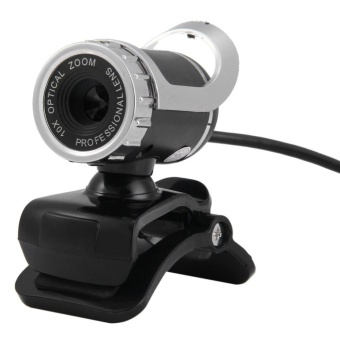 360 HD 12.0MP 640P Webcam with Built-in Mic for PC Laptop(Silver) - intl