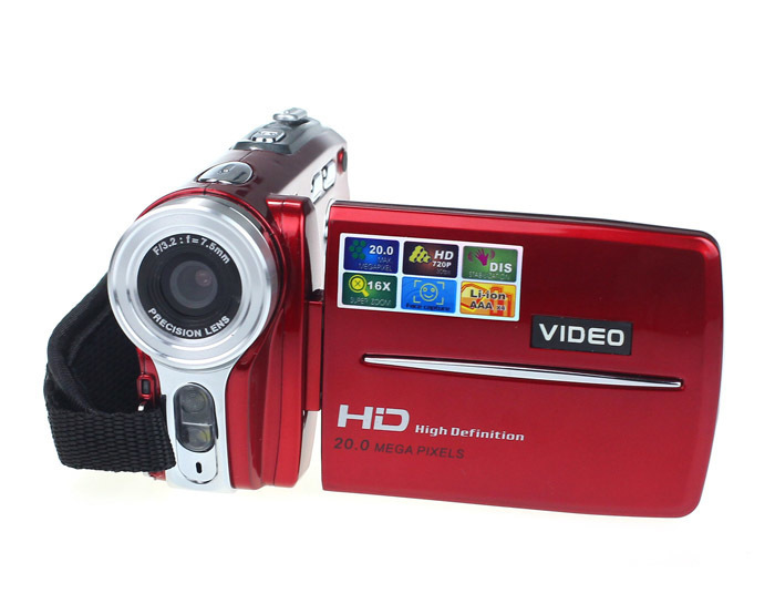3In TFT LCD 20MP Digital Video Camcorder 16x Digital Zoom DV Camera (Red)
