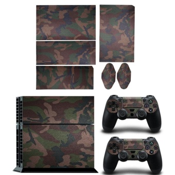 3Pcs/set Video Camouflag Stickers Skins For Playstaion 4 PS4Console Controllers - intl