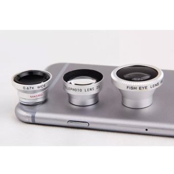 4-in-1 Fish Eye Angle Macro Telephoto Lens Camera for iPhoneSamsung (Intl:)