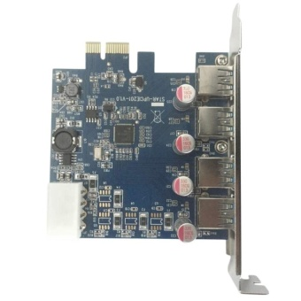 4 Port USB 3.0 HUB to PCI-e PCI Express Card Adapter ChipsetBrandly - intl