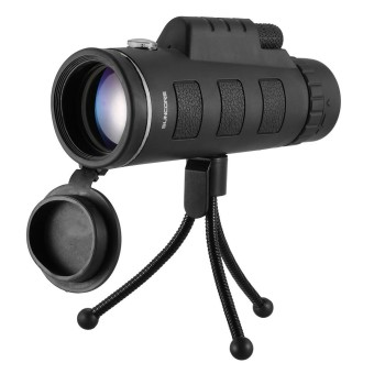 40X60 High Power Magnification Monocular Telescope with Eye Cups Compass and Tripod Wide-angle Monocular Scope - intl