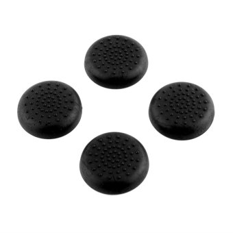 4x Rubber Thumbstick Joystick Grips For PlayStation 4 PS4Controllers Black - intl