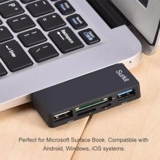 5-in-1 USB 3.0 để TF/SD Đầu Đọc Thẻ 2 Cổng USB dành cho Máy bề mặt Sách Laptop Máy Tính-quốc tế