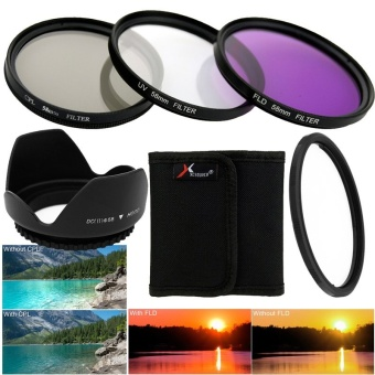 58mm Filter Set UV CPL FLD ND2 ND4 ND8 Lens Hood Cap for Canon18-55mm - intl
