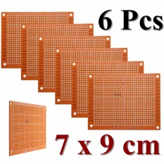 Giá 6pcs 7 x 9cm PCB Prototyping Printed Circuit Board Prototype Breadboard Stripboard – intl Tại Channy