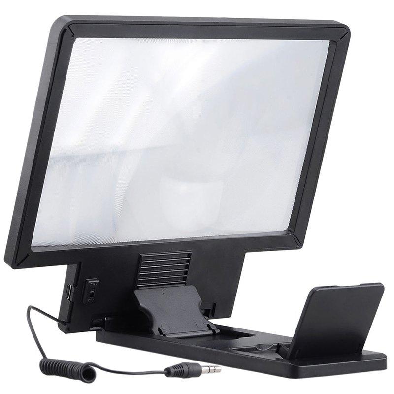 Mua 8.5 inch Điện Thoại Video HD Khuếch Đại Mở Rộng 3D Khuếch Đại Kính Phóng Đại Màn Hình (Đen)-quốc tế Tại Funny Face