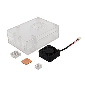 ABS Case + Cooling Fan + Heat Sink Kit for Raspberry Pi 3 Model B -intl