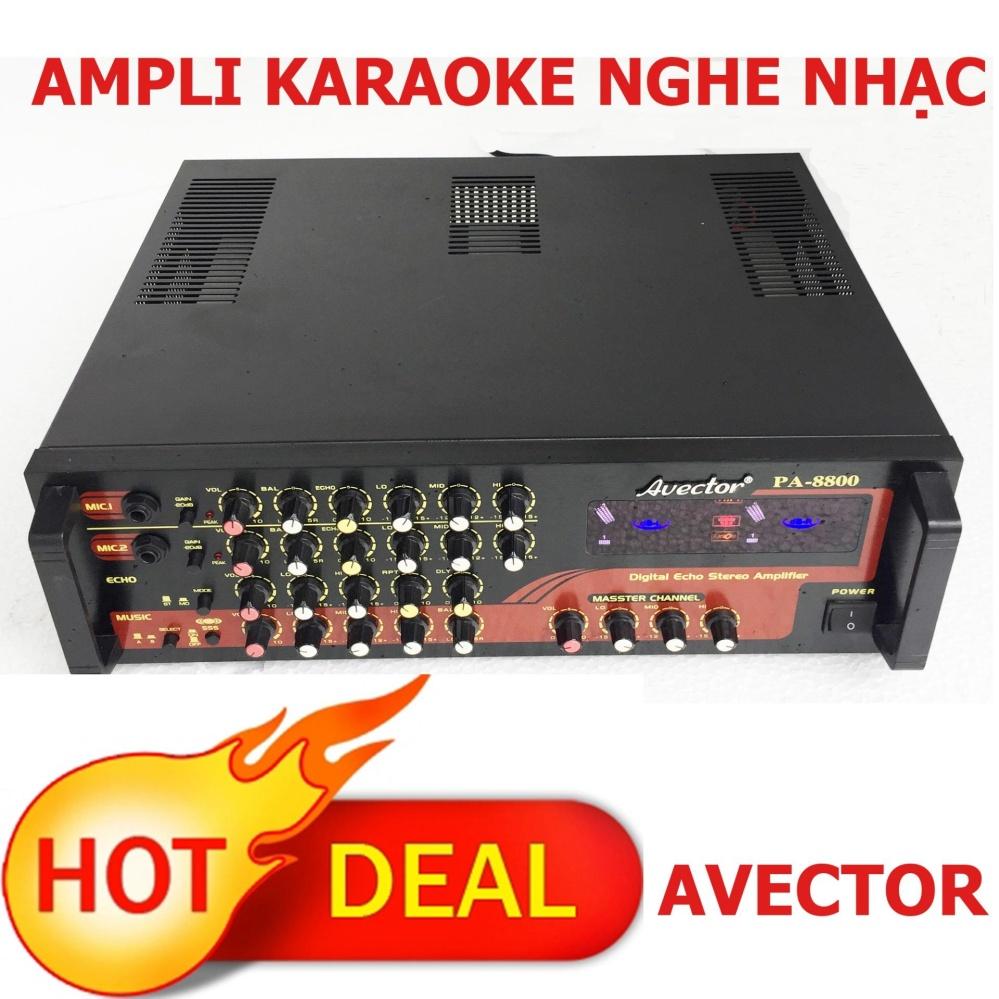 Ampli karaoke Amply nghe nhạc AVECTOR 8800 dành cho dàn karaoke gia đình