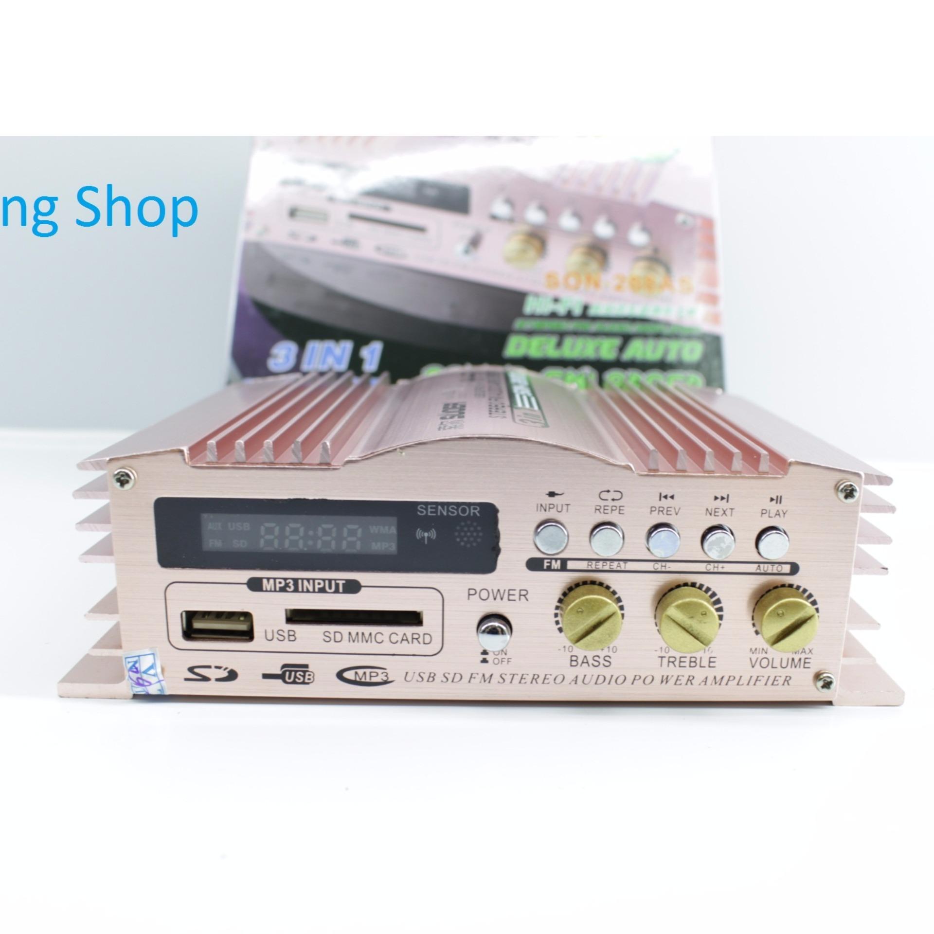 Cập Nhật Giá Ampli Mini 12V Super Bass 3 in 1 Suoer SO -288 LED ( Đồng )