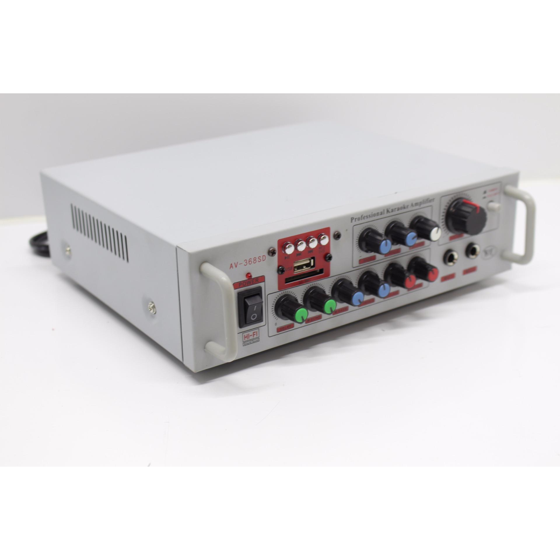Ampli Mini 12V/220V 3 in 1 Suoer AV-368SD ( Trắng )