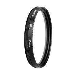 Andoer 55mm UV+CPL+FLD Circular Filter Kit Circular Polarizer Filter Fluorescent Filter with