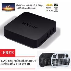 Android Box TV – MXQ 4K Tặng Kèm Bàn Phím Kiêm Chuột Không Dây UKB 500-RF