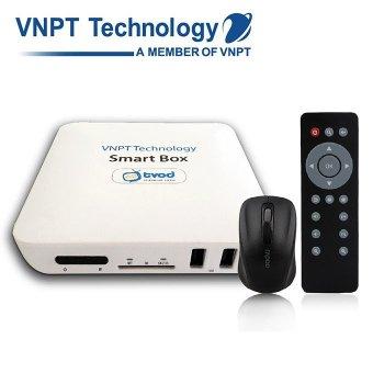 Android Smart box TV VNPT VNT001SB + 1 chuột không dây (Trắng)