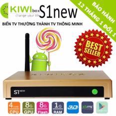 android tivi box kiwibox S1 new ( màu vàng )