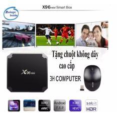 Ở đâu bán Android tivi box X96 mini Ram 2GB – Rom 16GB – Android 7.1.2 tặng kèm chuột không dây cao cấp